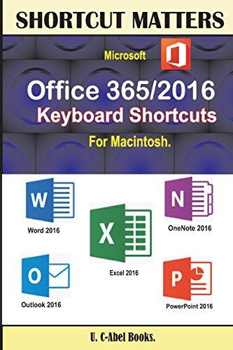 Microsoft Office 365/2016 Keyboard Shortcuts For Macintosh