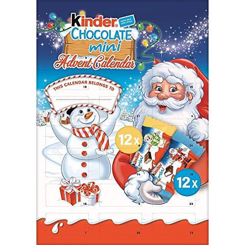 Kinder - Calendario de adviento de Papá Noel, de chocolatinas Mini, 135 g, Paquete de 2