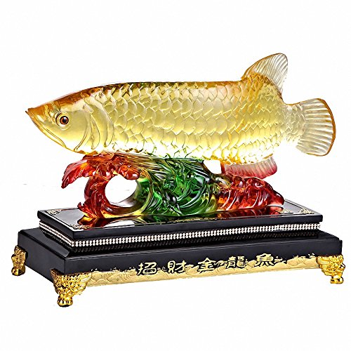 BOYULL Large Size Feng Shui Wealth Arowana (Golden...