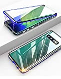 KumWum Galaxy S10+ Case Metal Bumper Magnetic Adsorption 9H
