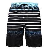 Meiju Pantalones de Playa Talla Grande 3D, Bañadores de Deporte para Hombre de Estampados Verano Entrenamiento Cortos de Surf Natación Pantalón (5XL,Playa)