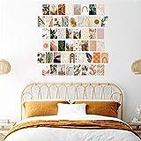 LIZHIOO 50 Piezas De Imagen Estética De La Pared Collage, Peach Y Cian Photo Imprimir Set Kit De Collage, Decoración De La Habitación Para Niñas, Adolescentes Y Mujeres