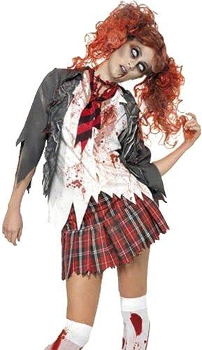 Fashion-Cos1 Kostüme Weiße Krankenschwester Kleid Zombie Cosplay Phantasie Weißliche Krankenschwestern Kostüme Spooky Blood Splatter Kostüm (Größe   M)