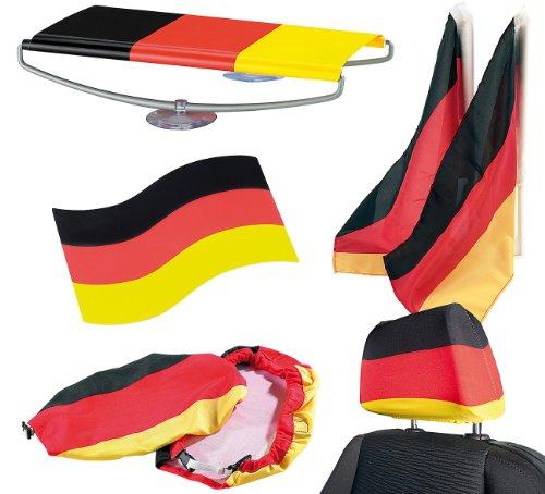 PEARL Fanpakete Deutschland: 8-teiliges Auto-Fanset Deutschland (Fan-Produkte)