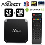 Android 9.0 RAM 2G+16G ROM TV Box X96 Mini Amlogic S905W Quad Core, 4K Ultra HD H.265,HDMI, WiFi Media Player Smart TV Box by Puersit (2G+16G)