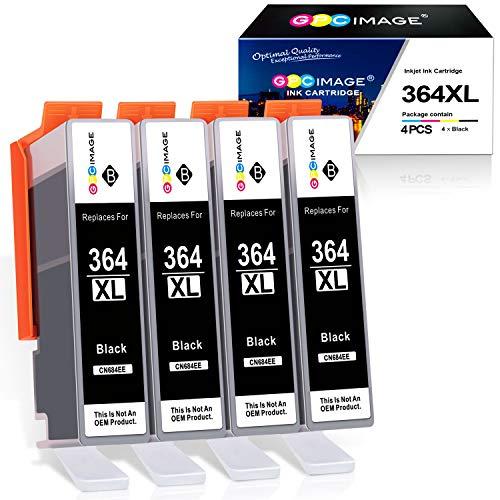 GPC Image 364XL Druckerpatronen Kompatibel für HP 364 364 XL Patronen für HP Deskjet 3070A 3520 HP Photosmart 5520 5510 5515 5524 6510 6520 7510 7520 B010a HP Officejet 4620 4622 (4 Schwarz)