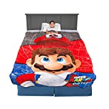 "Franco Kids Bedding Super Soft Plush Blanket, Twin/Full Size 62"" x 90"", Mario"