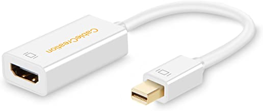 Mini DP to HDMI, CableCreation 4K Mini Displayport (Thunderbolt Port Compatible) to HDMI AV HDTV Male to Female Adapter, Compatible with Mac Book, iMac DP v1.2, White