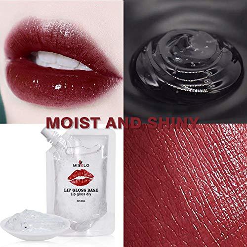 duhe189014 Fait à la Main à la Main Gloss Gloss Base DIY Lipstick Anti-Stick Base Oil Material 100ML 40ML for Womens Make Your Own Lip Gloss