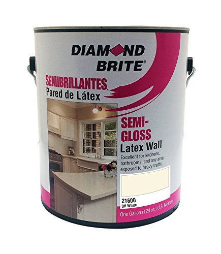 Diamond Brite Paint 21600 1-Gallon Semi Gloss Latex Paint Off White Missouri