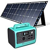 BLUETTI EB70 Portable Power Station with 200W Solar Panel, 716Wh/700W Solar Generator w/ 4 110V AC Outlets, Battery Backup for Camping Outdoor RV Power Outage Off-grid, Home Emergency