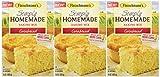 Fleischmann's, Simply Homemade Cornbread Mix, 15 ounce Box (Pack of 3)