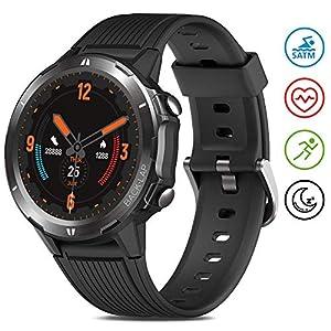 Reloj Inteligente Hombre Mujer, GRDE Smartwatch Redondo 12 Modo Deportivo con (Monitor de Ritmo Cardíaco/Sueño/Calorías… 10