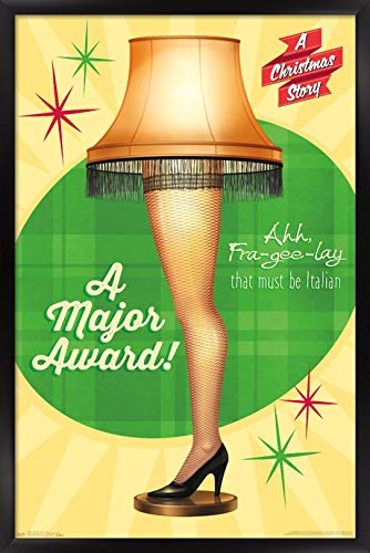 Trends International Christmas Story-Lamp Wall Poster, 22.375' x 34', Black Framed Version