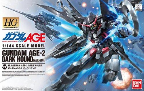 HG 機動戦士ガンダムAGE ガンダムAGE-2 ダークハウンド 1/144スケール 色分け済みプラモデル