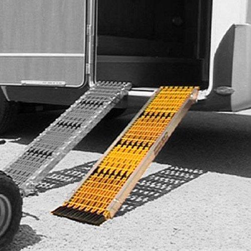Uniko 6in1 Aluminiumschienen 1er Set Faltrampe Sandboard Traktionshilfe Anfahrhilfe