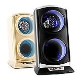Klarstein St.Gallen Premium Uhrenbeweger vertikale Uhrenbox (für 2 Uhren, LED Beleuchtung, flüsterleise, 4 Rotationsprogramme, 3 Drehmodi) schwarz-blau - 5