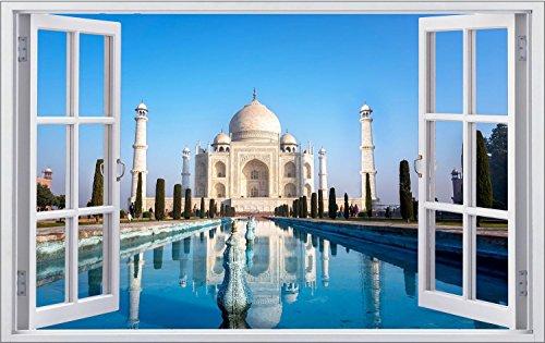 Tadsch Mahal Palast Indien Wandtattoo Wandsticker Wandaufkleber F0860 Größe 40 cm x 60 cm