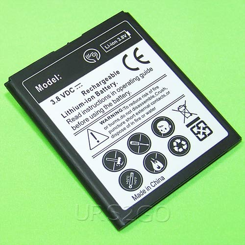 Displaceable Grade A+ Extended Slim Mighty Density 1900mAh Battery for ZTE Obsidian 4G LTE MetroPCS Phone