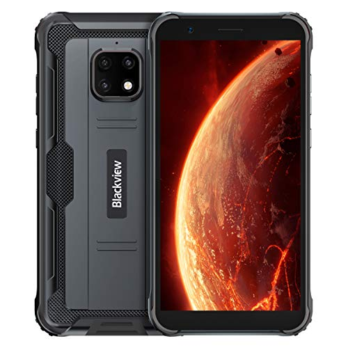 Blackview BV4900 Rugged Cell Phone Unlocked,5.7' Android 10 Waterproof Smartphone, 3GB Ram+32GB ROM .5MP+8MP Cameras,5580 MAh Battery.4G Dual Sim Phones .NFC .Face ID .GPS T-Mobile Phone(Black)