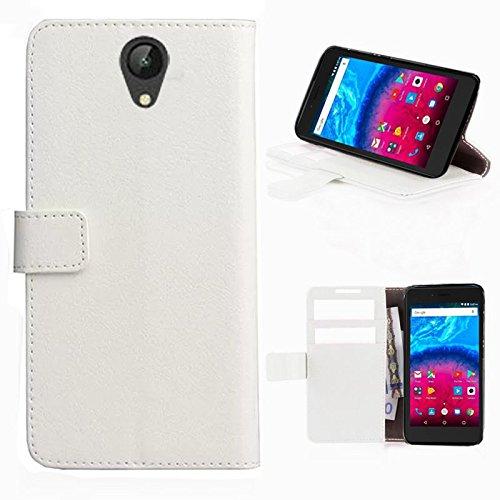 starz mobiles accessoires ARCHOS Core 50 - Tasche Gummi TPU Schutz Handytasche (Folio White)