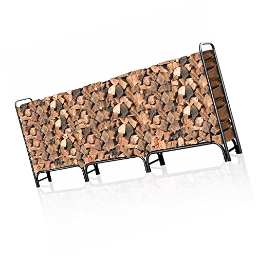 Moon_Daughter Farmhouse 12ft Storage Log Rack Firewood Pile Heavy Duty Firewood for Fireplace...