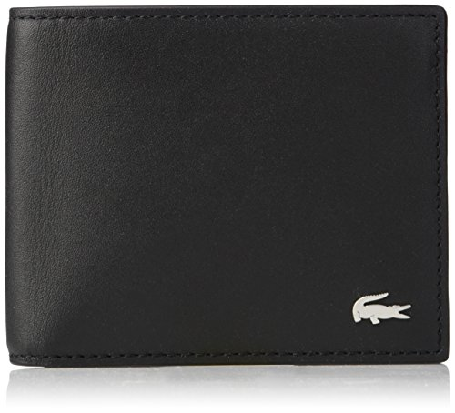 Lacoste Men's S Billfold Cc Holder, black, One Size