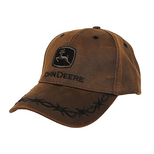 John Deere Toddler Kids Oilskin Cap-Brown-Os