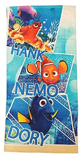 Star Wars The Force Awaken Encuentra Las Toallas Dorie Toallas de Playa para niños con Motivos de Hank, Dorie y Nemo 70x140 cm (Hank, Dorie y Nemo, Azul)