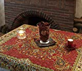 LPUK Tovaglia Afshari Collection SERIES1 rosso 100 cm × 100 CM circa quadrato in tessuto classico vintage modello