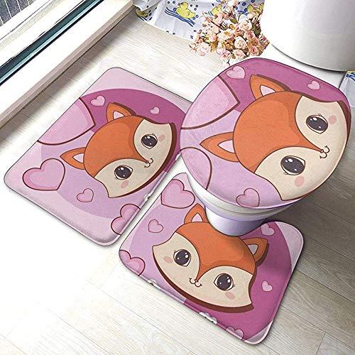 BOBO-Shop Juego de alfombras de baño Kawaii Animals de...