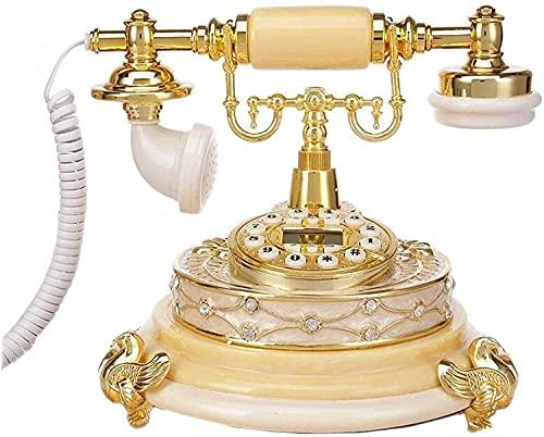 Teléfonos decorativos anticuados de moda Teléfono de la línea fija retro para el hogar para el hogar, la visualización de la pantalla del teléfono clásico de la vendimia, la visualización de la pantal