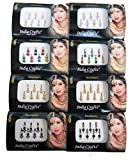 8 Packs- 56 Bindis Combo of Silver/Gold/Black/Multicolored Face Jewels Bollywood tika`