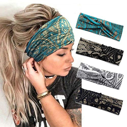 Catery Boho Headbands Criss Cros...