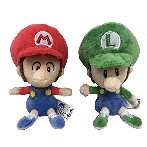 nanyin 2Pces Super Mario Baby Mario & Luigi Baby Plush Doll Toy...