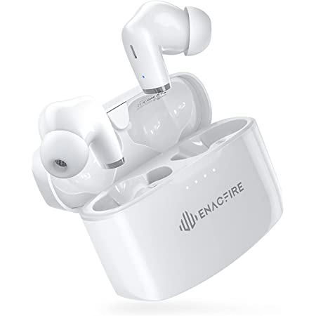 ENACFIRE E90 Wireless Earbuds with Extra Deep Bass, IPX8 Waterproof TWS Stereo Headphones, in Ear Built in Mic Bluetooth Earbuds, Touch Control Headset with Type-C Fast Charge