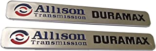 2pcs Autotuning Allison Transmission Duramax Emblems 2500hd Replacement for Gm Chevrolet Silverado Gmc (Chrome)