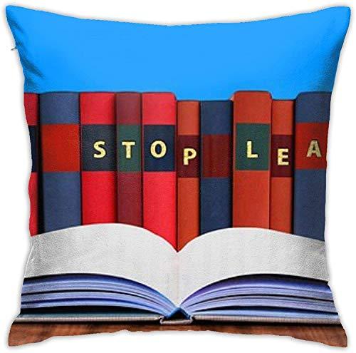 BONRI Funda de Almohada, Funda de Almohada de Mariquita, Funda de Almohada Decorativa, cojín Cuadrado para sofá, Coche, Libro de Literatura 16x16