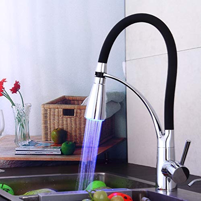 ROTOOY Waschtischarmaturen Waschraumarmaturen Kitchen Faucet_Led Wasserkrafthahn Küchenhahn Becken Wasserhahn Wasserhahn