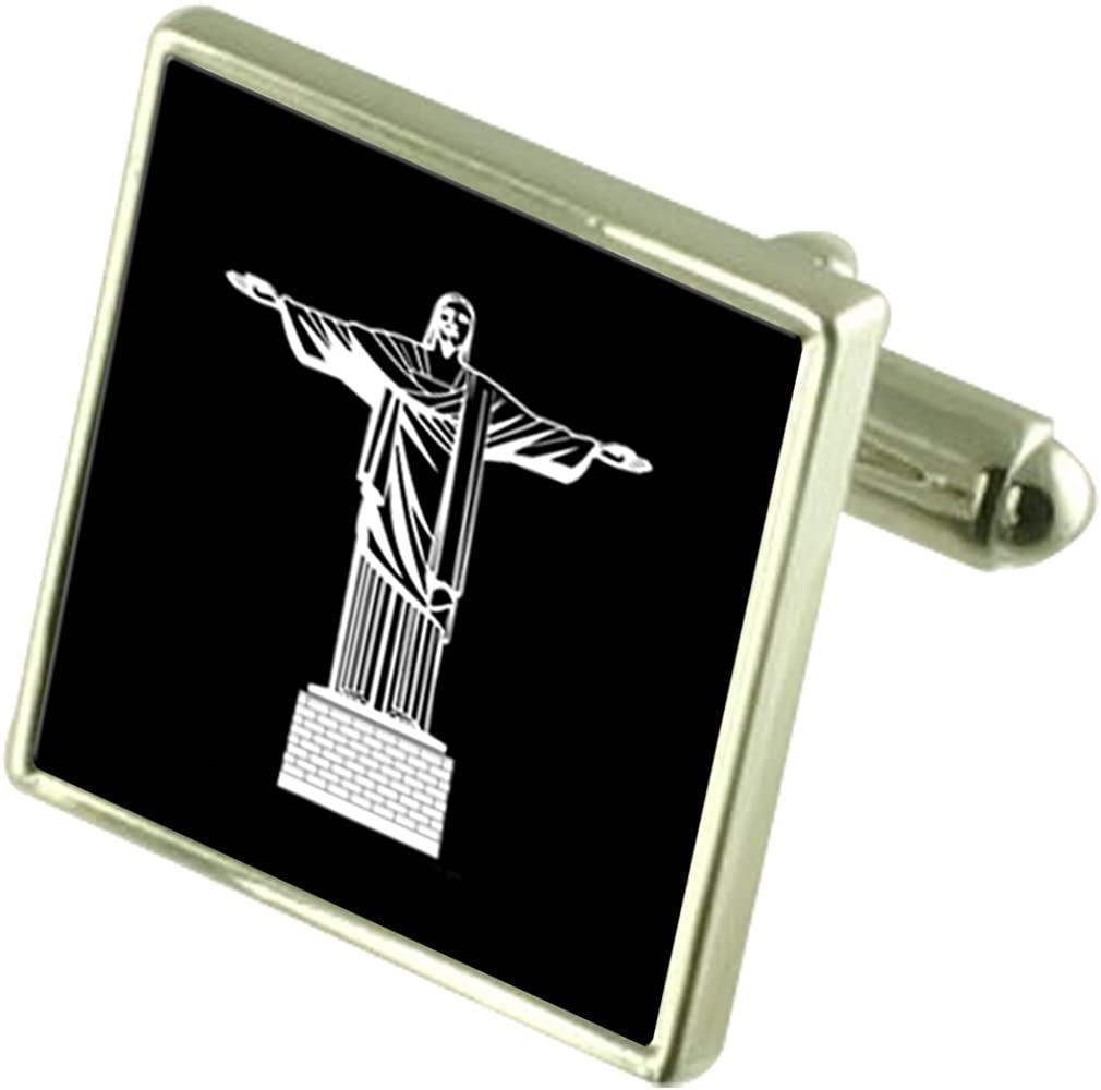 Select Gifts Christ Redeemer Optional List price Sterling Silver Cufflinks shop