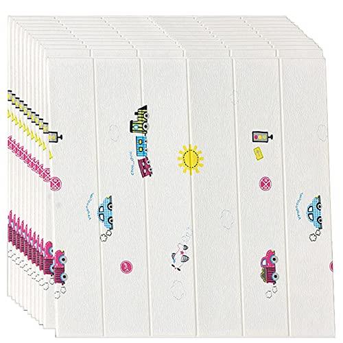 GL-GDD Paquete de 10 Paneles de Pared para pelar y Pegar Azulejos autoadhesivos para Bricolaje Papel Tapiz Impermeable anticolisión para cabecera de Dormitorio (52,7 pies Cuadrados),16