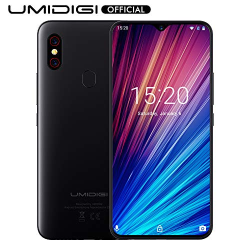 """UMIDIGI F1 Play with 6GB+64GB Memory Android 9.0 48MP+8MP+16MP Cameras 5150mAh 6.3"""" FHD+ Global Version Smartphone Dual 4G LTE Cell Phone Unlocked (Black)"""