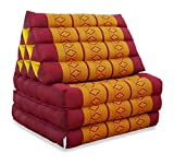 livasia | Cuscino Triangolare con Materasso Piegato in 3 | Materasso thailandese con Cuscino di Sostegno | Cuscino in kapok