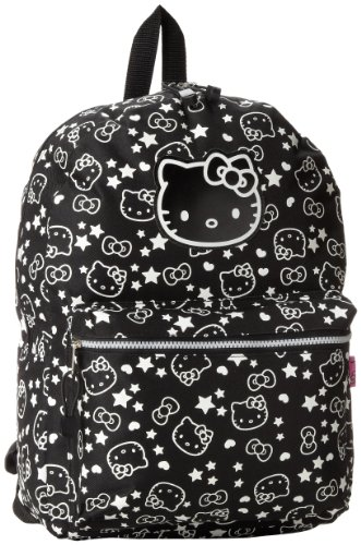 FAB Starpoint Girls 7-16 Hello Kitty 16 Inch Glow In The Dark Backpack, Multi, One Size