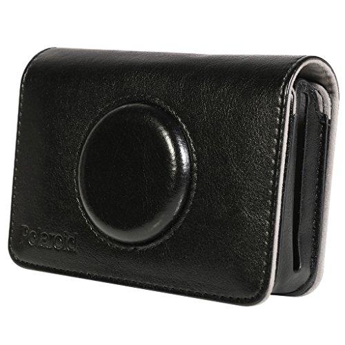 Polaroid Kunstledertasche für Digitalkameras mit Schnappverschluss, passexaktes Design, Schwarz