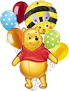 7 pc Winnie the Pooh Big as Life Balloon Bouquet Party Decoration Disney Baby