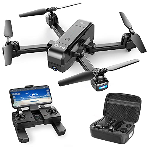 Contixo F22 RC Foldable Quadcopter Drone   Selfie, Gesture, Gimbal 1080P WiFi...