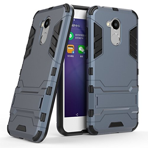Honor 6A Hülle, bdeals 2 in 1 TPU + PC Hybrid Dual Layer Slim Armor Schutzhülle Tasche mit Standfunktion für Honor 6A Hülle (Dunkelblau)