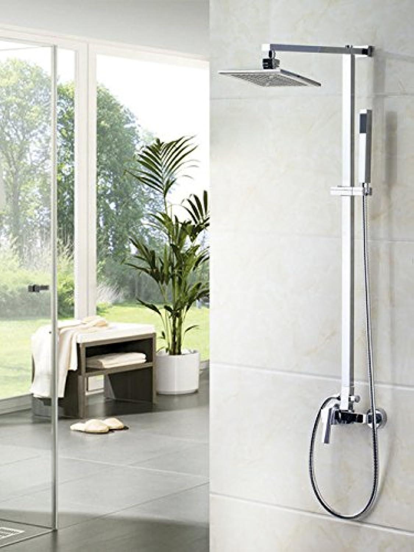 Luxurious shower Neue warm kalt Wasser Dusche Torneira Best Sale 8  ABS Regendusche Bad 52004 1 Wanne chrom Waschbecken tippen Sie auf Mischpult Wasserhahn, Wei