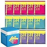 JOD - 15 pz PH Test Meter Kit soluzione tampone di misurazione della polvere tampone pH 4.00/6.86/9.18 punto di calibrazione per pH metro calibrazione rapida e accurata del pH(imballaggio in scatola)